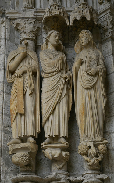 Chartres Cathedral North Porch, The Annunciation