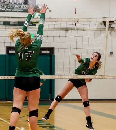 Warmups, Set two: Vashon Island High School Varsity Volleyball v Annie Wright 09/26/2018