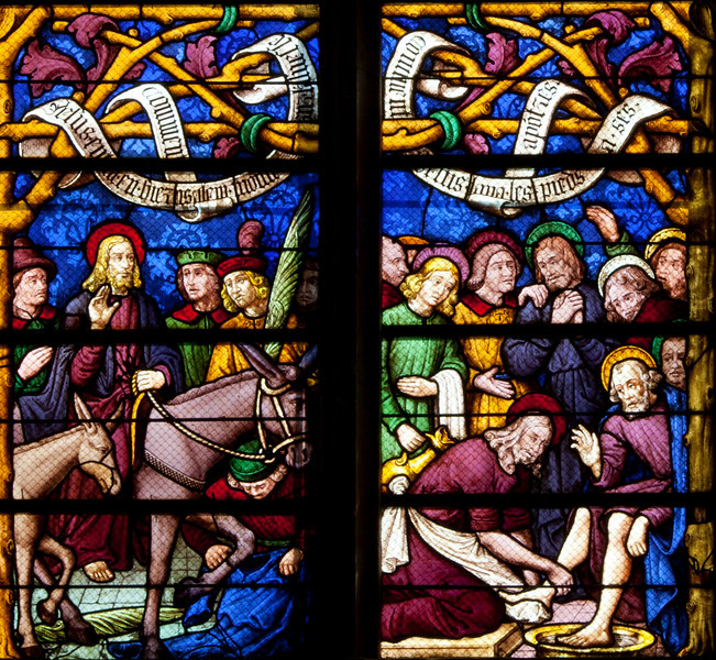 Chalons-en-Champagne Cathedral, The Entry into Jerusalem and the Washing of the Feet
