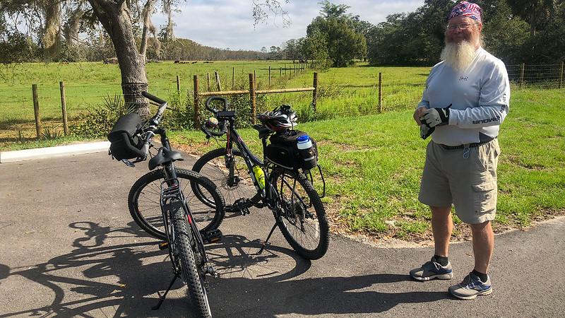 John next to bikes