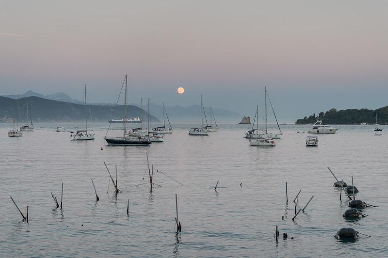 Moonrise - Portovenere, La Spezia, Italy - August 29, 2015