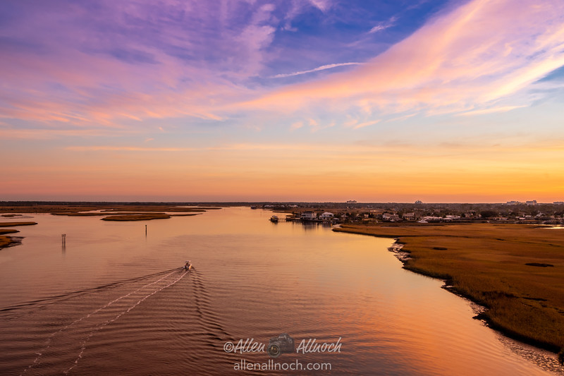 Colorful Sky over Intracoastal Waterway