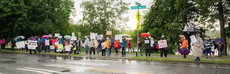 Black Lives Matter Rally at Green Lake June 12, 2020