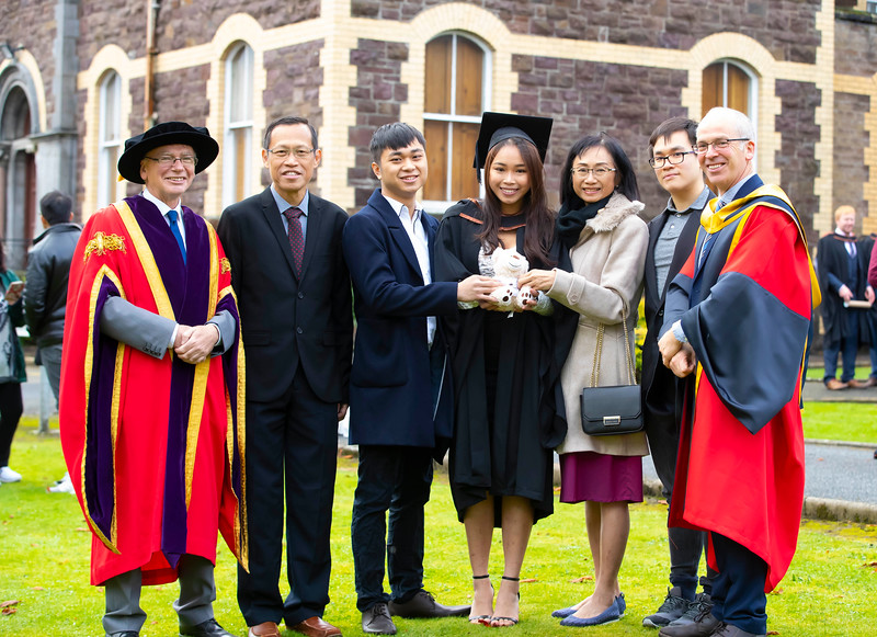01/11/2019. Waterford Institute of Technology (WIT) Conferring Ceremonies. Pictured are Shen Yu, Jing Sheng, April Vixin, Lee Yew, Benjamin. Picture: Patrick Browne