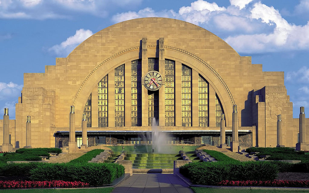 . Union Terminal in Cincinnati, Ohio, is one of America\'s 11 most endangered historic places. Preservationists say Cincinnati\'s Union Terminal is an iconic symbol of the city and a world-class example of Art Deco architecture. But now itís suffering from deterioration and is in need of extensive and costly repairs. (AP Photo/Cincinnati Museum Center via National Trust for Historic Preservation)