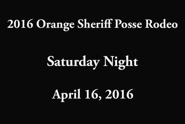 Orange Sheriff Posse Rodeo 'Saturday Night