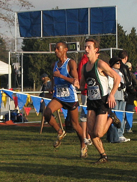 2005 Canadian XC Championships - 6K gone and last year's top-2 are alone at the front