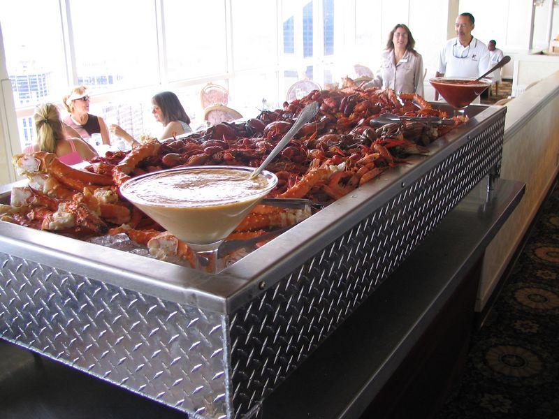 The seafood display