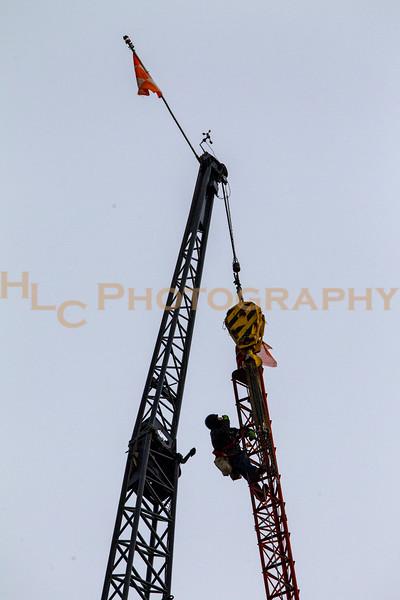 04/22/2021 KWAL radio tower dismantled