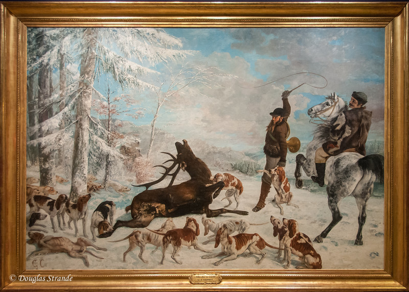In the Orsay Museum, a hunting scene