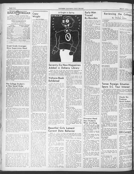 Daily Trojan, Vol. 30, No. 120, April 21, 1939