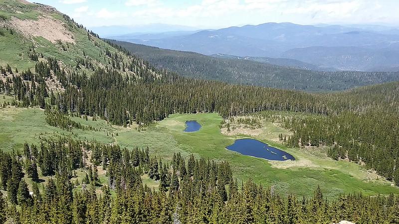 Serpent Lake is the bigger lake