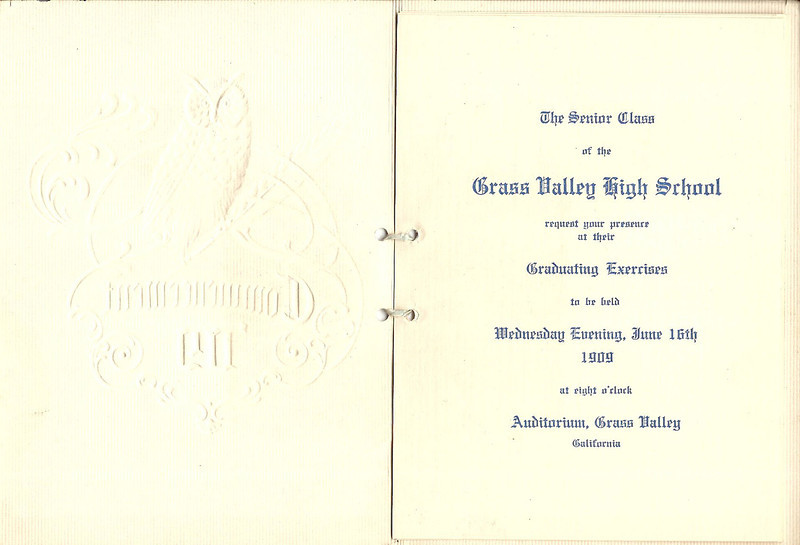 High School Graduation 1909