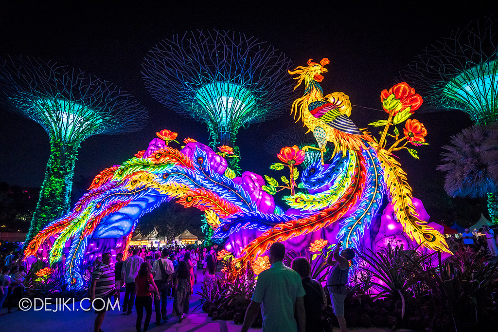 Mid-Autumn at Gardens by the Bay - Giant Lantern Display / The Phoenix and the Peony focus