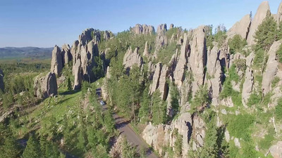 Needles Highway, Cathedral Spires and Sylvan Lake