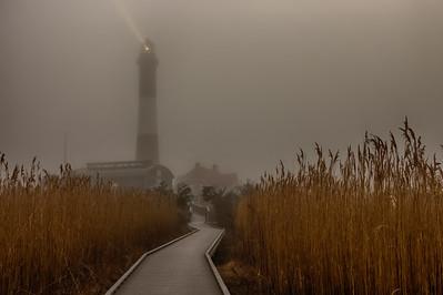 Foggy Fire Island Lighthouse Mar 2017