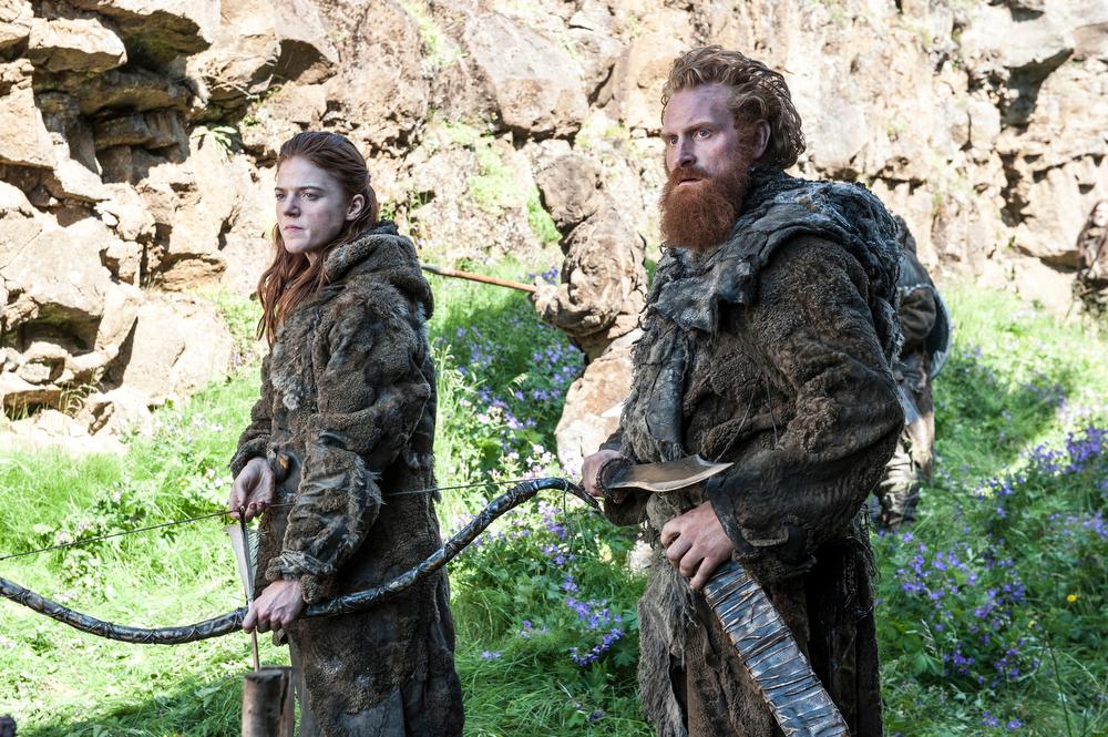 . Game of Thrones, Season 4: Rose Leslie and Kristofer Hivju. (Photo by Helen Sloan)
