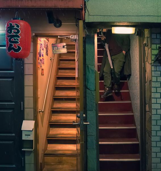 Stairs In Golden Gai