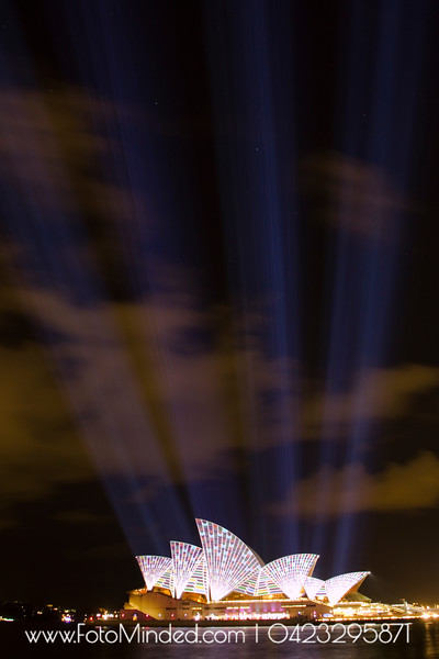Rays of Light.  Shot this on Light Festival in Sydney - Vivid Sydney 2011