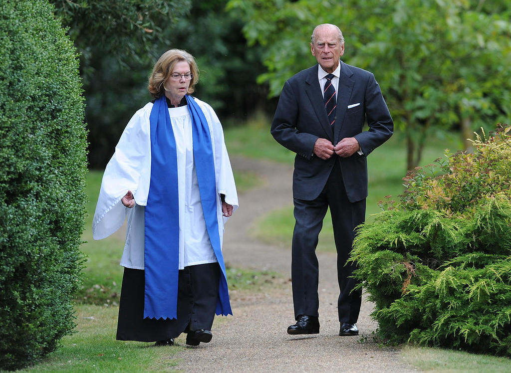 . KING\'S LYNN, ENGLAND - AUGUST 04:  Prince Phillip, Duke Of Edinburgh attends  a service of commemoration at Sandringham Church on August 4, 2014 in King\'s Lynn, England. Monday 4th August marks the 100th anniversary of Great Britain declaring war on Germany. In 1914 British Prime Minister Herbert Asquith announced at 11pm that Britain was to enter the war after Germany had violated Belgian neutrality. The First World War or The Great War lasted until 11 November 1918 and is recongnised as one of the deadliest historical conflicts with millions of casualties. A series of events commemorating the 100th anniversary are taking place throughout the day.  (Photo by Stuart C. Wilson/Getty Images)