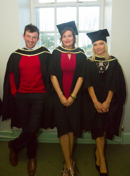 Waterford Institute Of Technology Conferring. Pictured at WIT Waterford Institute Of Technology Conferring are Emmett Hughes Kilkenny, Niamh O'Loughlin, Clare and Micheala Quilty, Kilkenny who graduated Master of Arts in Exercise and Sport Psychology. Picture: Patrick Browne