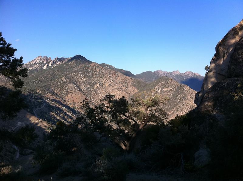 False summit on Lamont Peak.