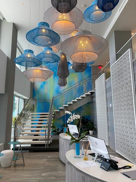 Serafina Beach Hotel lobby