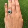 4.38ctw Art Deco Russian Demantoid & Diamond Cluster Ring 13