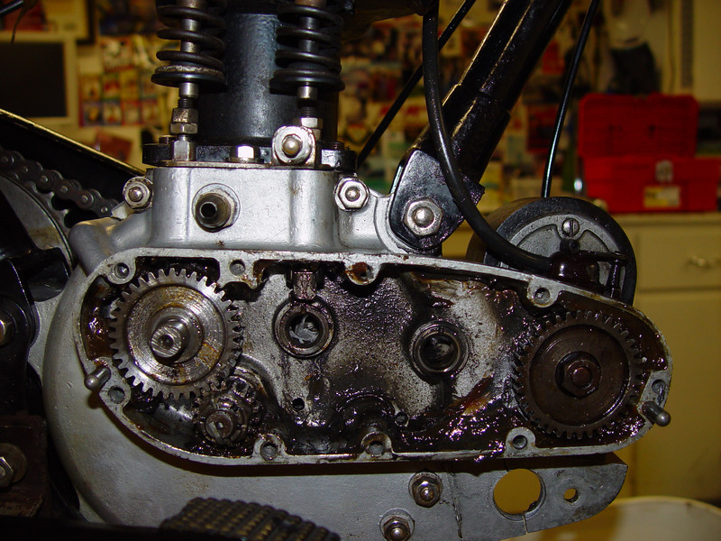 Looking into timing chest.  Should all that moly grease be in there?
