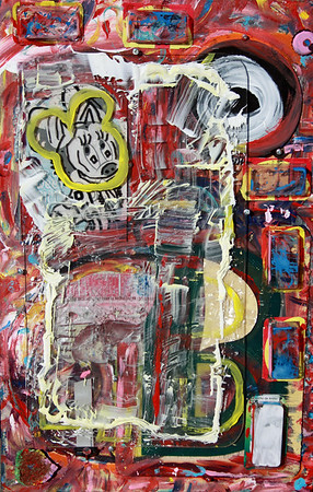 """""""B is for mouse Bad dreams"""" (mixed media) by Tony Brown"""