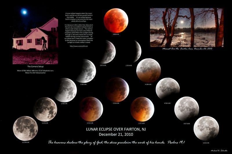 Lunar Eclipse over Fairton, NJ, 12/21/2010