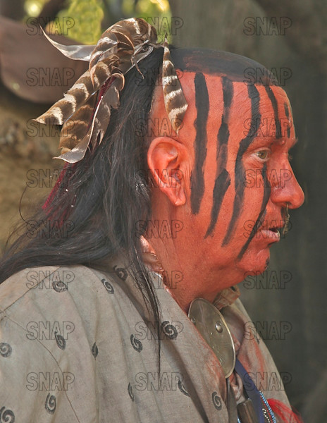 Ronald Turner; Speedway, IN; portrays Lenni-Lenape, or a Delaware Indian at the Pioneer Days Festival in Fowler Park, near Terre Haute, IN