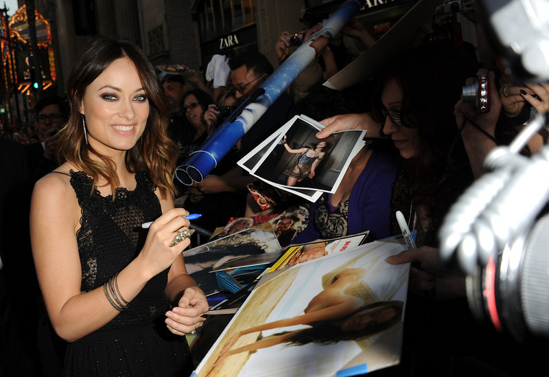 ". Actress Olivia Wilde attends the premiere of Warner Bros. Pictures\' ""The Incredible Burt Wonderstone\"" at TCL Chinese Theatre on March 11, 2013 in Hollywood, California.  (Photo by Kevin Winter/Getty Images)"