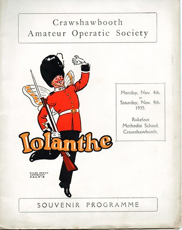 Crawshawbooth Amateur Operatic Society Iolanthe 1935