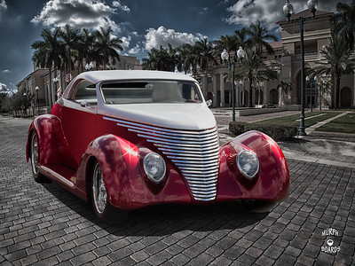 1937 Ford Red/White