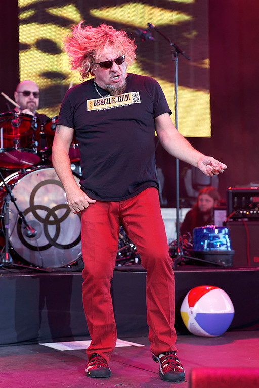 . Sammy Hagar at Freedom Hill on 7-23-14. Photo by Ken Settle