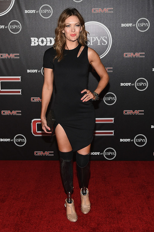 . HOLLYWOOD, CA - JULY 15:  Amy Purdy arrives at the ESPN\'s BODY at ESPY\'s Pre-Party at Lure on July 15, 2014 in Hollywood, California.  (Photo by Michael Buckner/Getty Images)