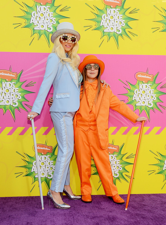 . LOS ANGELES, CA - MARCH 23:  Singer Ke$ha (L) and Louie Sebert arrive at Nickelodeon\'s 26th Annual Kids\' Choice Awards at USC Galen Center on March 23, 2013 in Los Angeles, California.  (Photo by Mark Davis/Getty Images for KCA)