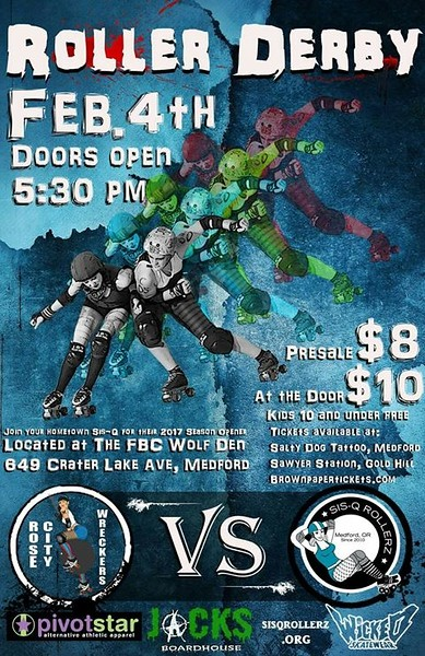 SiSQ vs Rose City Wreckers 02-04-17
