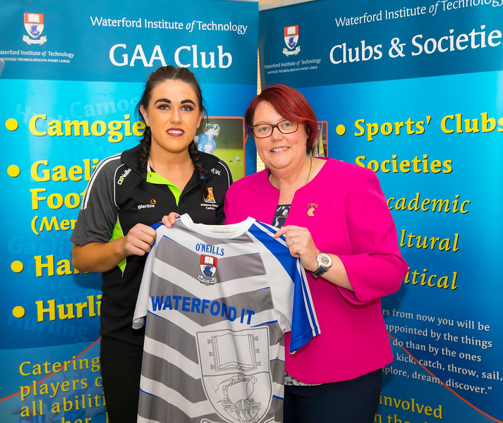 WIT holds event to honour 2016 All Ireland medal winning students. Pictured with the  President of the Camogie Association Catherine Neary is Miriam Walsh of the Kilkenny Senior Camogie Team. Picture: Patrick Browne  Waterford Institute of Technology's presence and influence across Gaelic Games at a national level in 2016 has been very noticeable. In total there are 32 past and present WIT students on the respective playing panels that won All Ireland medals in 2016 and a further 4 members on the backroom management teams.   To honour this huge achievement, WIT GAA Club is paying tribute to these 36 past members on securing these prestigious national titles on Monday 3 October, 6.30pm at the WIT Arena.   Along with the players, the prestigious cups, including the All Ireland Senior Hurling Cup- Liam McCarthy, the All Ireland Senior Camogie Cup- O'Duffy, The All Ireland Minor Cup and the All Ireland Under 21 Hurling Cup- James Nowlan, will be on show on the night.