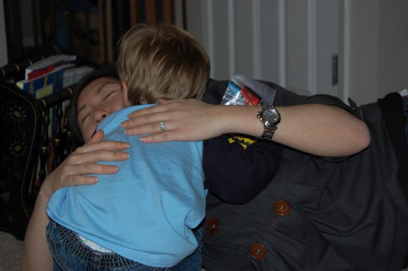 Giving Auntie Jennie Hugs & Kisses