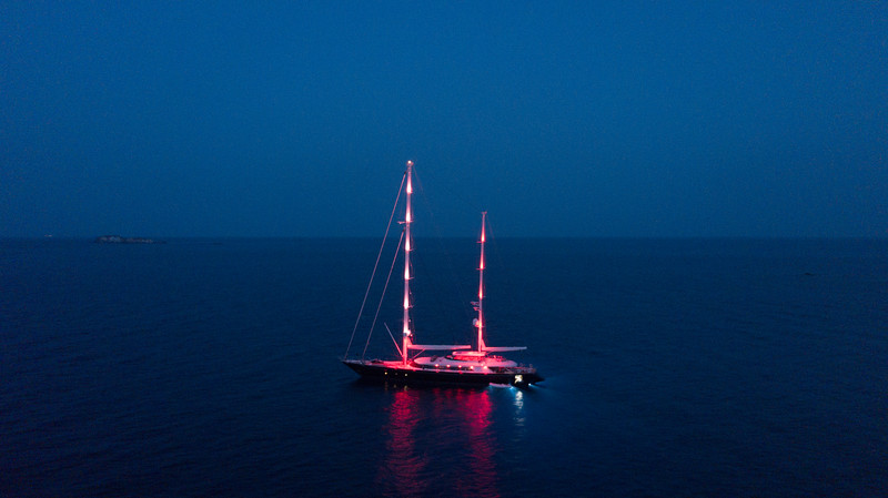 Sail Yacht Red