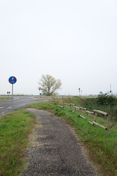 Near Porto Fluviale (River Port) - Boretto, Reggio Emilia, Italy - October 8, 2014