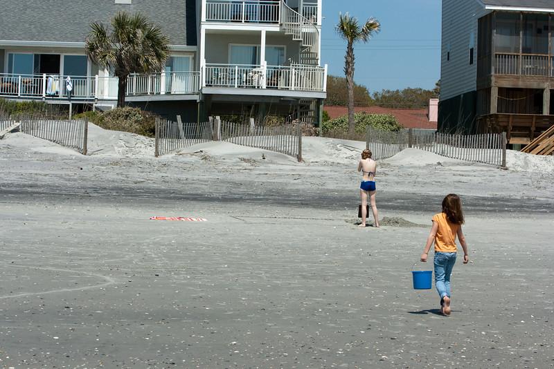 Sand castle construction.