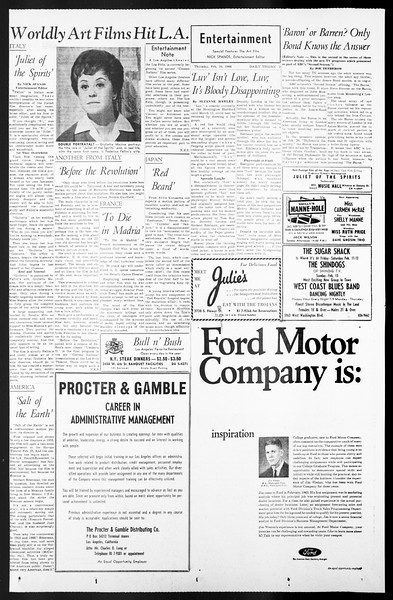 Daily Trojan, Vol. 57, No. 65, February 10, 1966