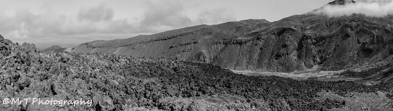 The upper Mangatepopo Valley Tongariro Crossing