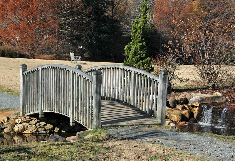 Bridge and bench