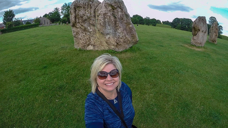 Susan at Avebury Stone Circle