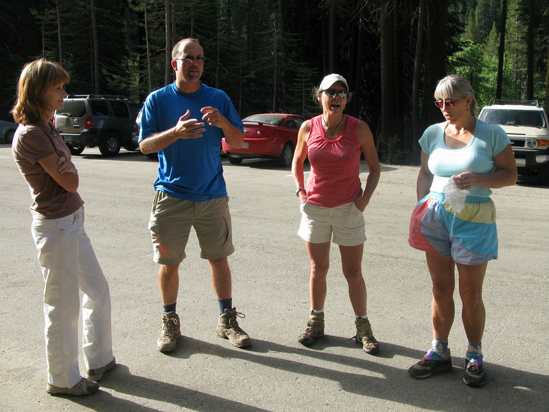 Ruth, Jim, Lisa and Alice at the Wolverton trailhead