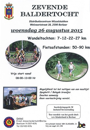 Racefiets toer - Baldertocht 26-08-2015